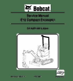 Manual de Reparación - Bobcat E10 Excabadora Compacta