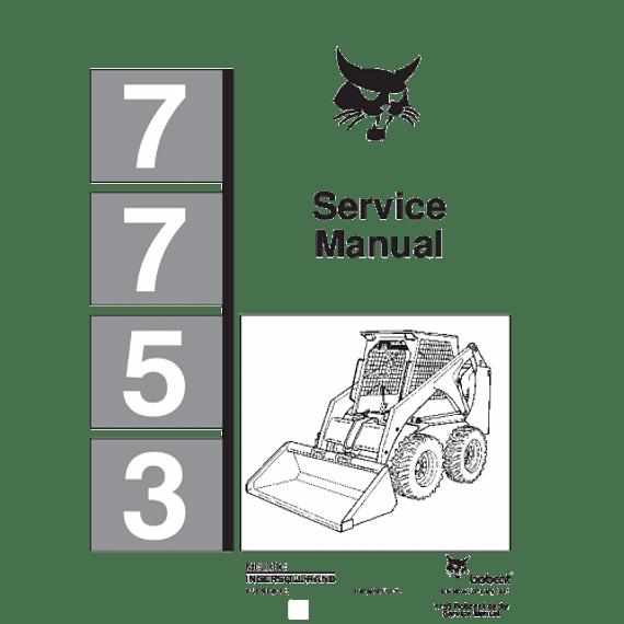 Manual de Reparación de Servicio - Bobcat 7753