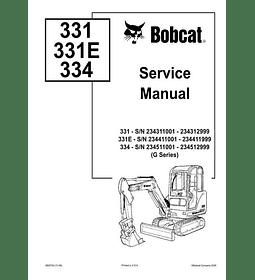 Manual de Reparación de Servicio - Bobcat 331, 331E, 334 Serie G