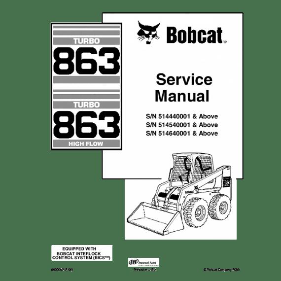 Manual de Reparación de Servicio  - Bobcat 863