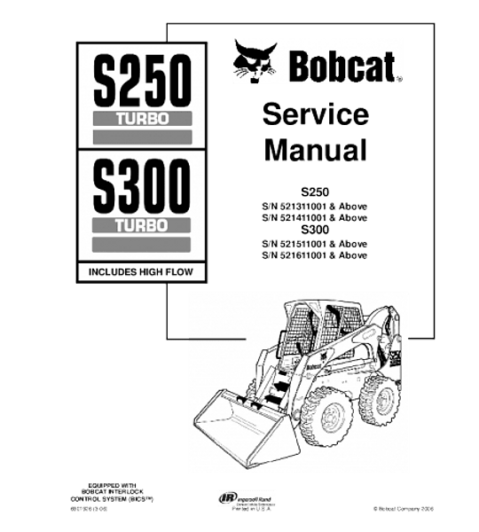 Manual de Reparación de Servicio - Bobcat S250, S300