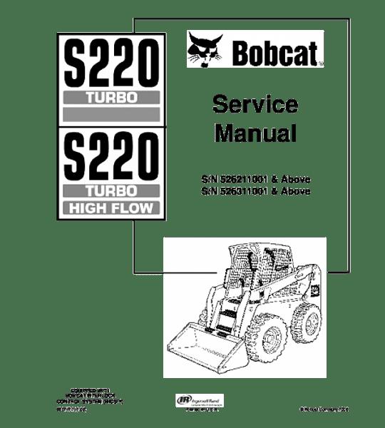 Manual de Reparación de Servicio - Bobcat S220
