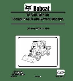 Manual de Reparación de Servicio - Bobcat 5600 Toolcat
