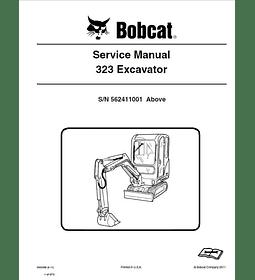 Manual de Reparación del Servicio - Bobcat 323 ( S/N N 562411001 y Superior )