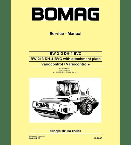 Manual de Reparación de Servicio - Bomag BW 213 DH-4 BVC