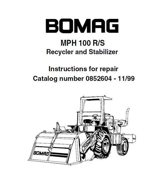 Manual de Catálogo de Repuestos - Bobcat MPH100 MPH 100