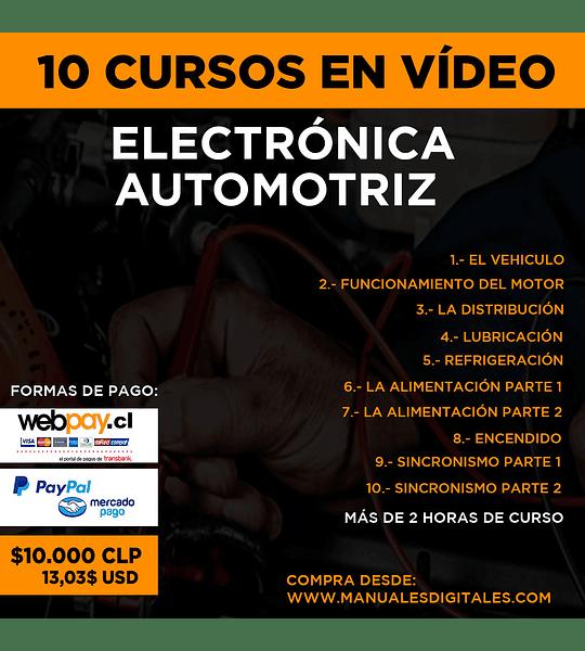 Curso Electrónica Automotriz - 10 Sessiones en Vídeo