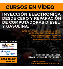 Curso en Vídeo - Inyección Electrónica Desde Cero y Reparación de Computadoras Diésel y Gasolina