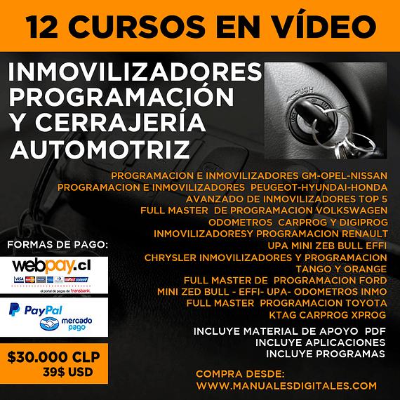 Cursos en Vídeo - Inmovilizadores, Programación y Cerrajería Automotriz