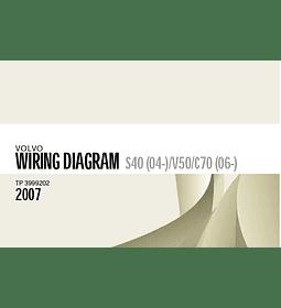 Diagramas eléctricos Volvo S40 (04 -) / V50 / C70 (06-) - 2007