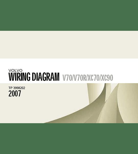 Diagramas eléctricos Volvo V70, V70R, XC70, XC90 ( 2007 )