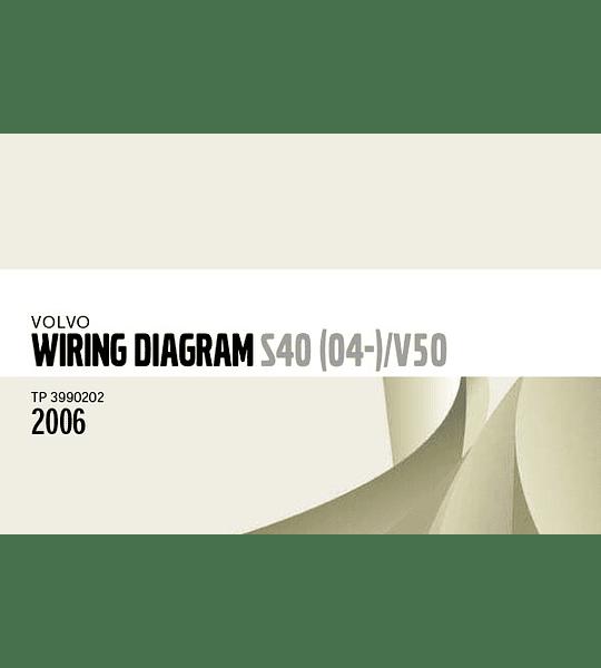 Diagramas eléctricos Volvo S40 V50 ( 2006 )