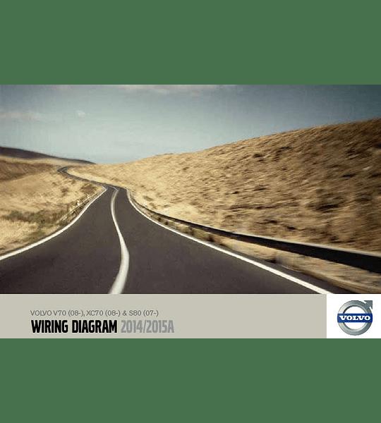 Diagramas eléctricos Volvo V70  XC70  S80 ( 2014- 2015 )