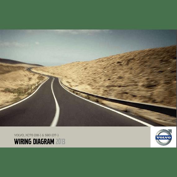Diagramas eléctricos Volvo XC70  S80  ( 2013 )