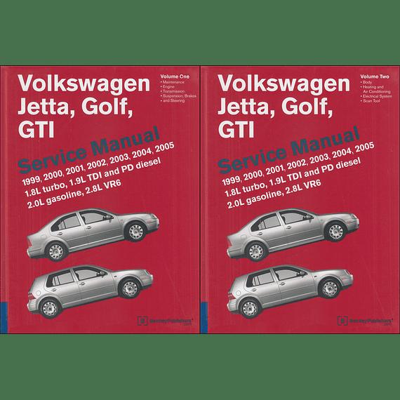 Manual de Taller Volkswagen Jetta, Golf & GTI ( 1995 - 2005 ) inglés