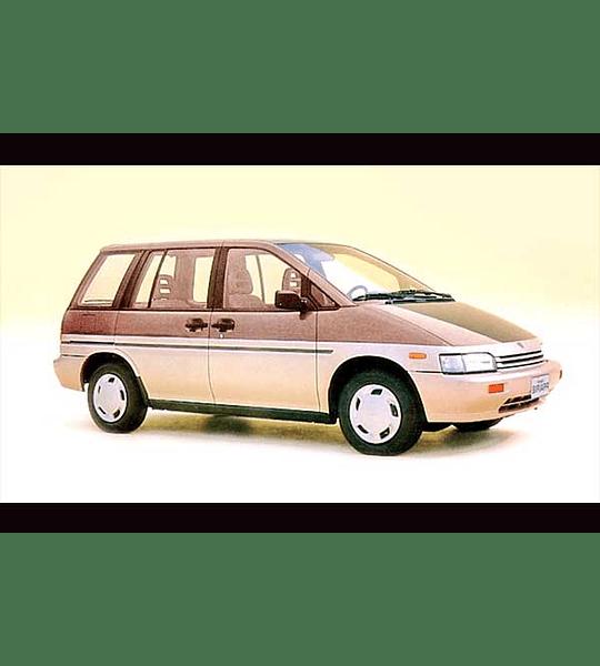 Manual De Taller Nissan Prairie (1988-1998) Inglés