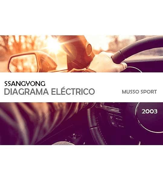 Diagrama de cableado eléctrico de SsangYong Musso Sports LHD ( 2003 )
