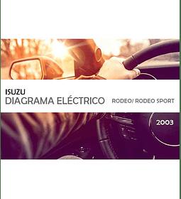 Diagrama de cableado eléctrico Isuzu Rodeo  Rodeo Sport ( 2003 ) inglés