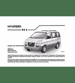 Manual De Usuario Hyundai H1 (1997-2007) Español