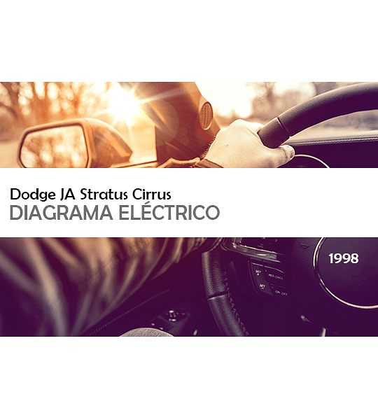 Diagrama Eléctrico Dodge JA Stratus Cirrus ( 1998 ) inglés