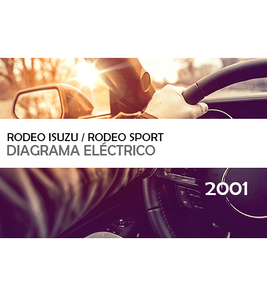 Diagramas eléctricos Isuzu Rodeo / Rodeo Sport ( 2001 ) inglés