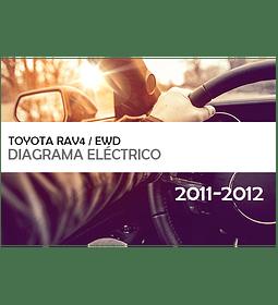 Diagramas eléctricos Toyota Rav4 ( 2011 - 2012 ) inglés