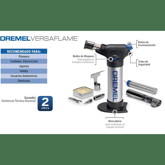 Soplete Dremel Versaflame Con 7 Accesorios + Caja Metálica