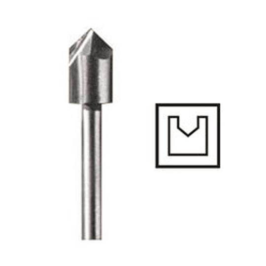 Fresa en V HSS 6,4 mm 640 Dremel