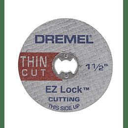 Kit 5 Discos corte fino metal EZ-Lock EZ409 Dremel