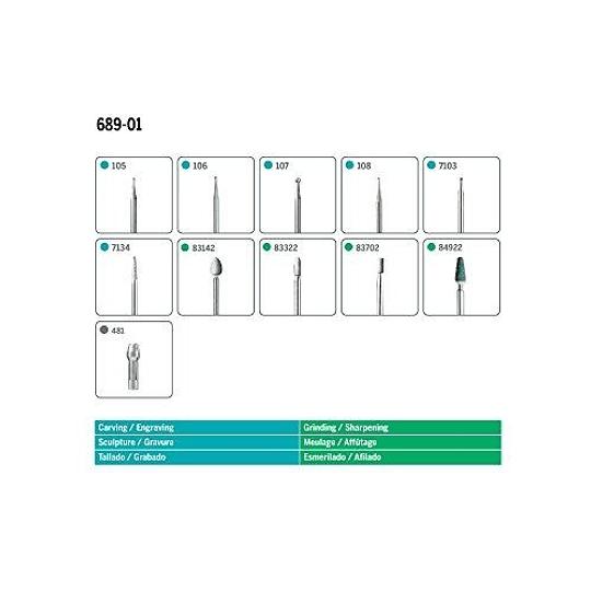 Kit 11 Accesorios 689-01 Grabar y Tallar Dremel