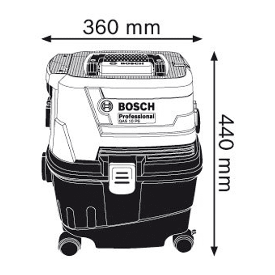 Aspiradora húmedo/seco GAS 15 PS Professional Bosch