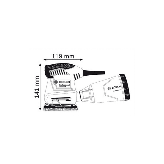 Lijadora orbital Bosch GSS 140-1 A Professional