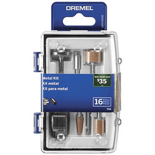 kit 16 Pcs Acc Para Metal 734-02 Dremel