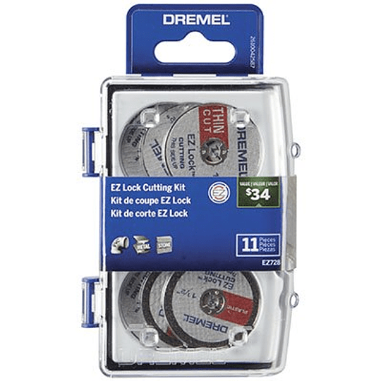 kit 11 Pcs Acc De Corte EZ Lock 728-02 Dremel