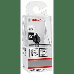 """Fresa 1/4"""" para ranuras en V 12.7 mm Bosch 415"""