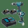 Kit 18 V Taladro Percutor DHP453 + Atornillador impacto DTD156 + Bolso DLX2336SYX Makita