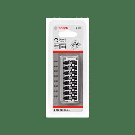 Set 8 pcs puntas atornillar PH2 25mm 324 Bosch