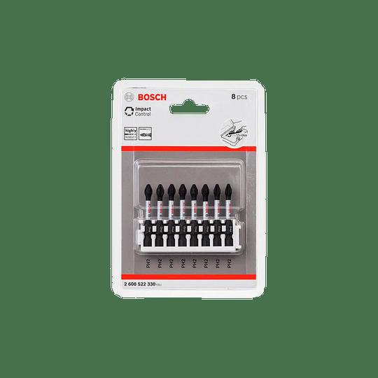 Set 8 pcs puntas atornillar PH2 50mm 330 Bosch