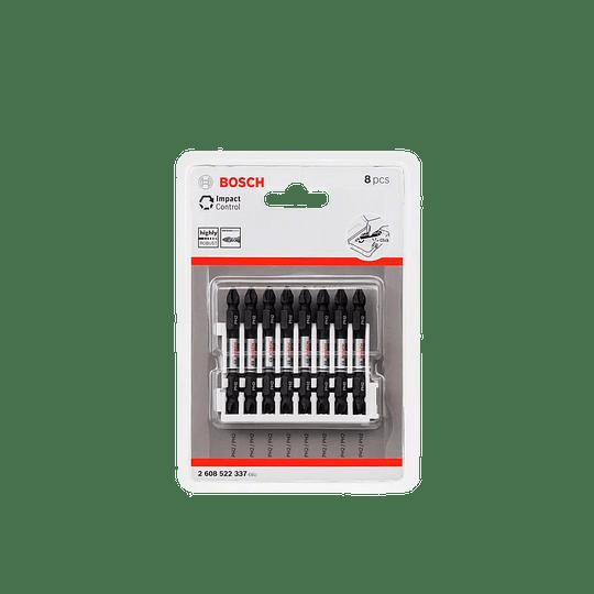 Set 8 pcs puntas atornillar dobles PH2 337 Bosch