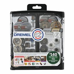 kit 70 Pcs Acc EZ LOCK EZ725 Dremel