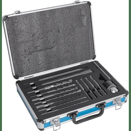 Set 14 Pcs Puntos y brocas SDS-PLUS + Adaptador y Mandril D-71174 Makita