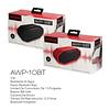 Parlante portátil Bluetooth Resistente al agua AWP-10BT RED Aiwa