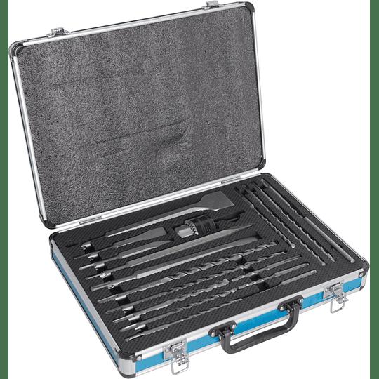 Set 18 Pcs Puntos y brocas SDS-PLUS +Adaptador y Mandril D-71196 Makita