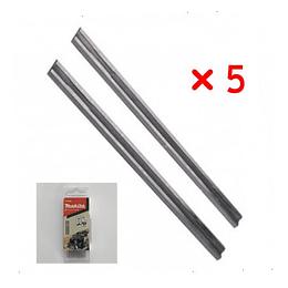 Set 5 juegos Cuchillo Cepillo 82mm B-70839 Makita