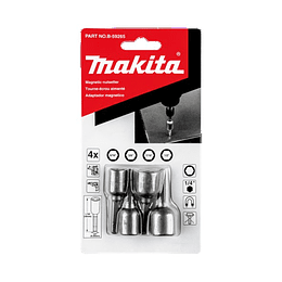 Set 4 Pcs Adaptadores Magnéticos Hex. B-59265 Makita