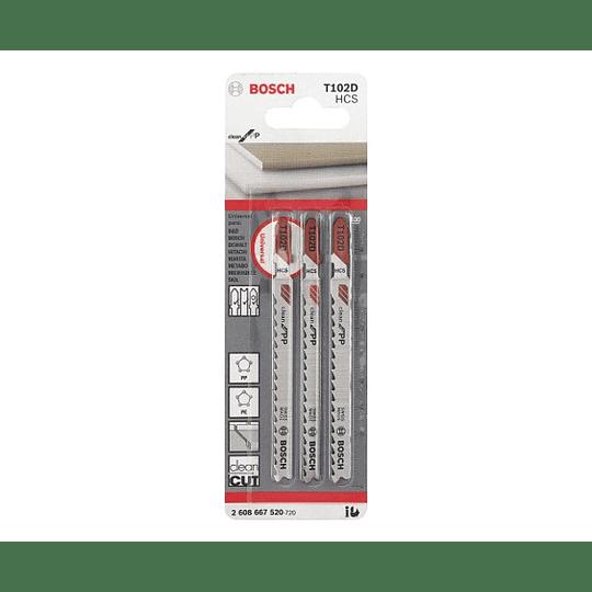 Set 3 Hojas Calar PVC T102D Bosch