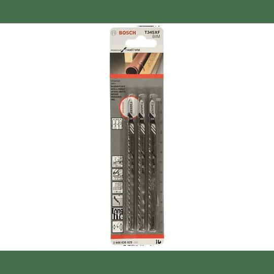 Set 3 Hojas Calar Madera / Metal T345XF Bosch