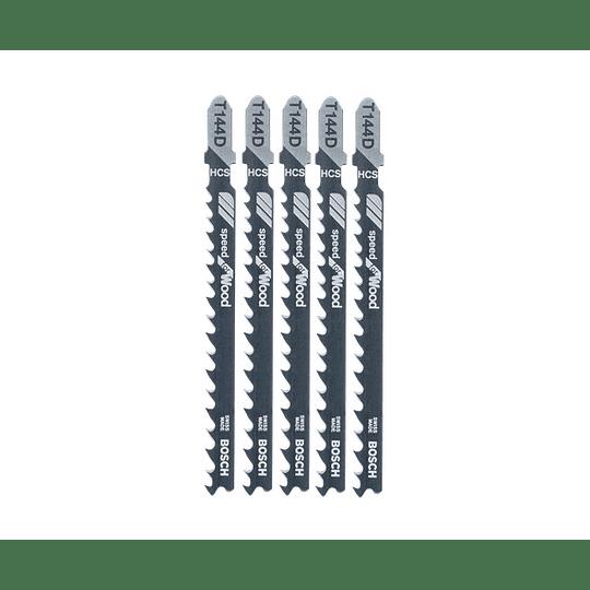 Set 5 Hojas Calar Madera Aglomerada Corte Rápido T144D Bosch