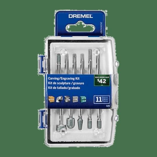 Kit 11 Accesorios 729-02 Grabar y Tallar Dremel
