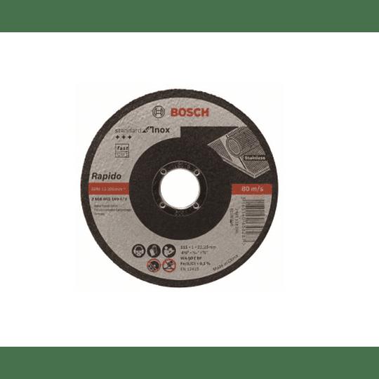 Pack 25 discos 115mm corte inox. 2608603169 Bosch